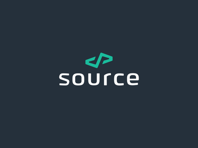 Source logo logotype monogram logomark marque brandmark trademark code coding source madebysource