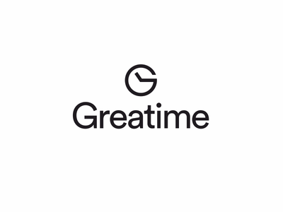 Greatime logo logotype logomark marque brandmark trademark g clock time watch hour