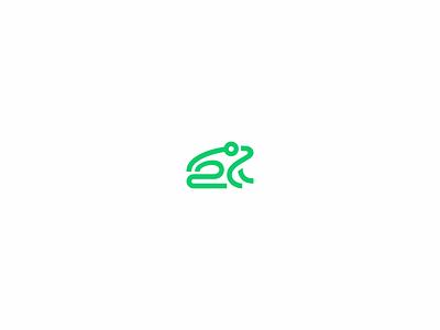 Goeng frog toad animal logomark brandmark logo branding line