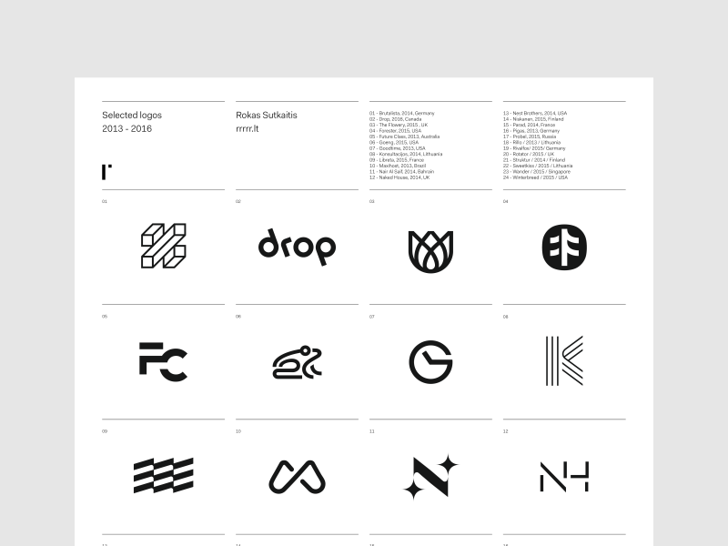Selected Logos selection minimal symbol trademark logotype brandmark poster logo