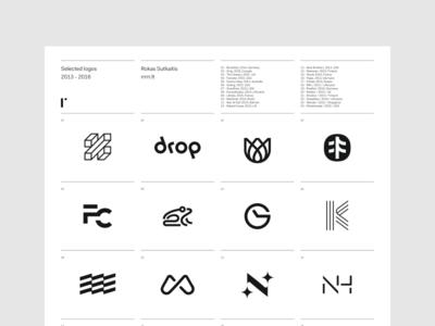 Selected Logos selection minimal symbol trademark logotype brandmark poster logo