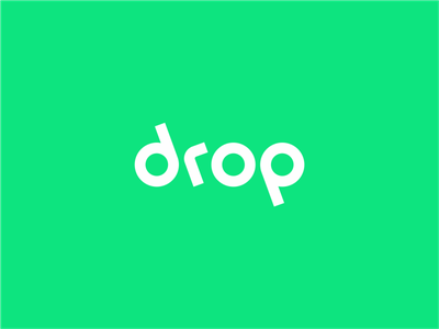 Drop Logotype  drop identity branding wordmark typeface typography type logo logotype