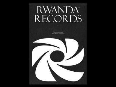 Rwanda Records typeface lettering logodesign trademark branding symbol logomark logo
