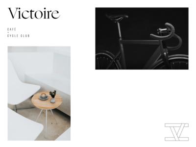 Victoire Café + Cycle Club logo design brand design brandmark branding symbol mark logomark logotype logo identity