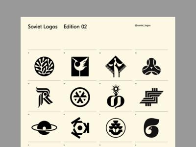 Soviet Logos 02 identity branding brandmark trademark symbol logomark logotype logo logos poster