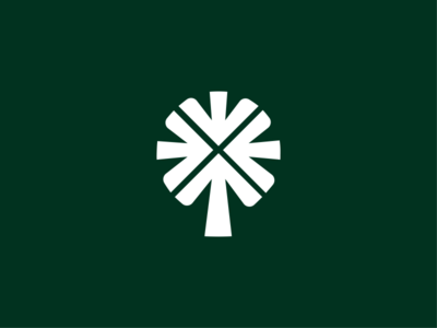 Tree + arrows visual minimalist minimal symbol logotype dynamic identity branding logomark logo