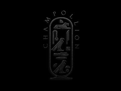 Champollion Hotel hotel brandmark logomark logo luxury branding ancient egyptian emblem symbol