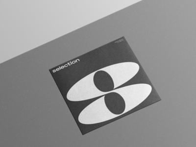 Selection music record sleeve 8ball bold s logomark logotype vinyl symbol record label branding logo