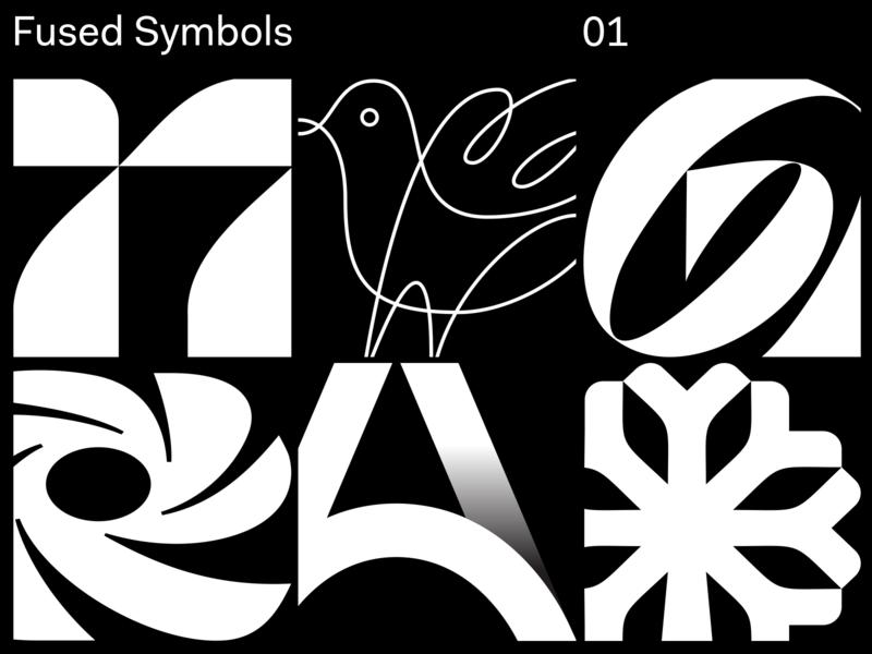 Fused Symbols 01 monogram custom lettering trademark identity wordmark typography mark brandmark branding symbol logomark logotype logo