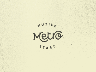 Le Project metro state music logofolio portfolio logo type typography custom font brush letter lettering rokas simple blue red pink old retro vintage