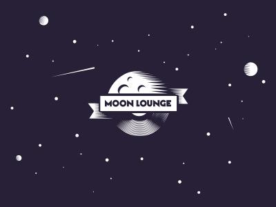 Moon Lounge moon lounge music vinyl sound space comet logo planet cosmos deep house banana