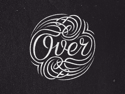 Over typography hand-lettering lettering over word dark typo decorative victorian shadow black banana