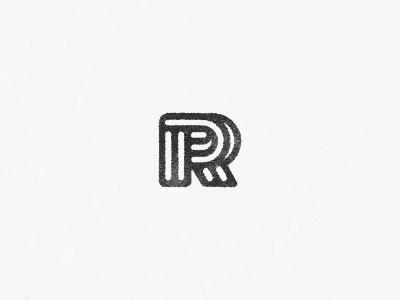 R r logo mark symbol logotype line mono black rokas banana letter
