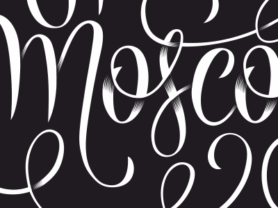 Mosco... typography hand-lettering lettering over word dark typo decorative shadow black banana moscow hand custom leuleu