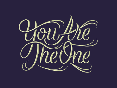 You Are lettering typography typo type letters custom handdrawn blue royal qoute swoosh gold