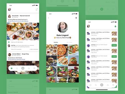 Food Post UI Design
