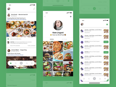 Food Post UI Design freelance designer mobile app mobile ui mobile review food app food app branding app design freelance design mobile app design ux ui app design agency design agilelarks