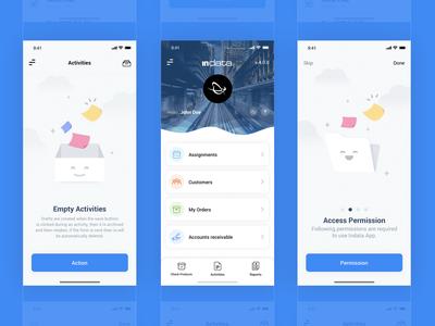 indata Mobile App Design