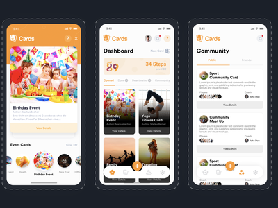 Mobile app design 89 steps pubic cards community app event app event sketch 89 steps 89 web design and development app design mobile app design app ux ui mockup design agency design agilelarks