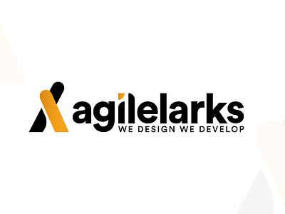 agilelarks Redesign Logo we design we develop typograpgic logo logo design logo branding typography ux ui mockup app design agency design agilelarks
