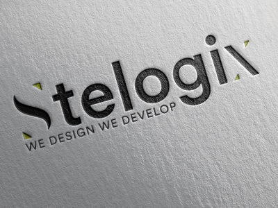 Stelogix logo for Client mockup logo 3d web design and development web  design agilelarks icon typography branding vector design logo