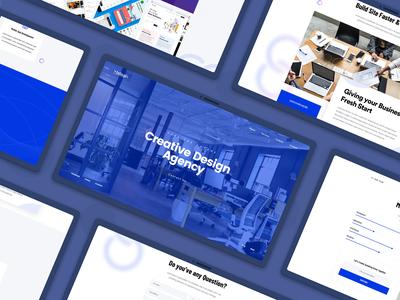 Stelogix Website landing page design