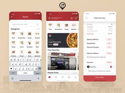 Restozone Mobile App Redesign burger pizza food app design food and drink food service delivery app canada app restaurant app food app food mobile app design ux ui app typography design agency branding mockup design agilelarks
