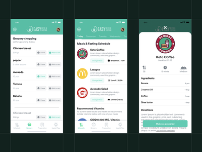 Food App UI Mobile App Design