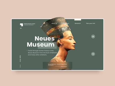 Nefertiti, Neues Museum webuiuxdesign website ui websites neues egyptian nefertiti conceptual uiux ui design uidesign webdesign website concept application design application ui website design adobexd design adobe xd