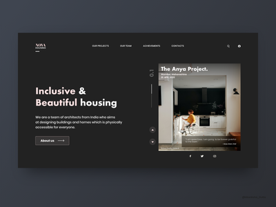 Nova Housing Web Design website wheelchair friendly wheels architechture user interface design user interface web design homepage design architectural design architecture webdesign website design uidesign mobile app design conceptual design website concept ui design uiux adobe xd