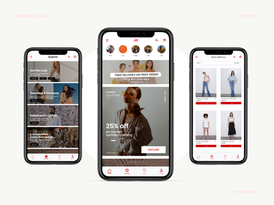 H&M Mobile App - UI dribbble figma design web design online shopping online store online shop adobexd user interface design fashion app shopping app mobile app design mobile app ui design uiux figma