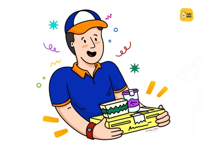 Food Delivery Boy - Illustration ui illustration boy illustration dribbble character illustration food delivery app food delivery character design character branding illustration