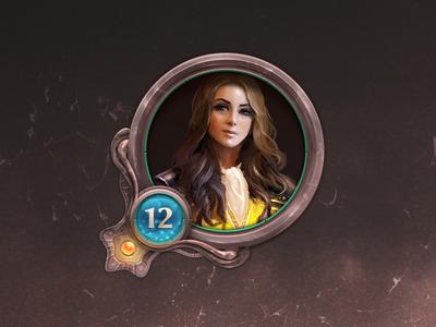 Game UI user icon user level girl fantasy icon ui game