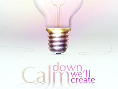 Calm down illustration web studio lamp