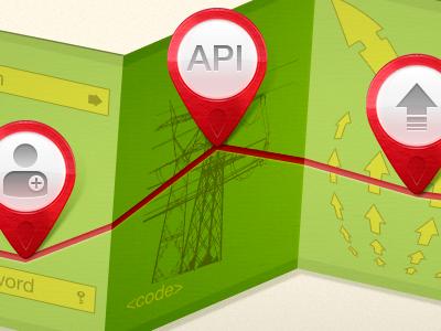 Map&Pinz final version pin map illustration pixel perfect
