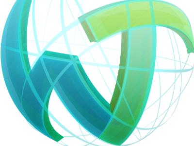 WebTomat logo logo web glossy globe