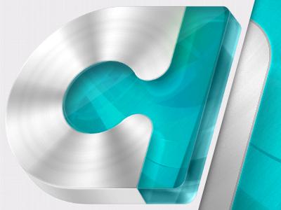 AdComplete logo (final) logo glossy steel metal