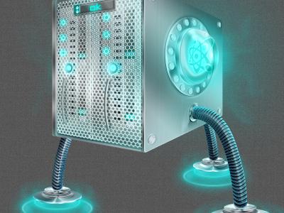 Upgraded supa server server glow nuclear steel futuristic