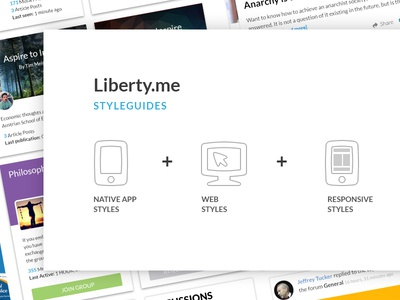 Liberty.me UI UX Webdesign