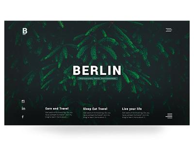 Berlin illustration typography web ux ui web design