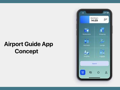 Airport Guide App Concept