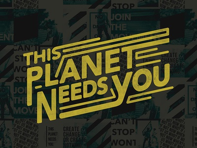 Vote the Environment votetheenvironment typography lettering ligature planet retro type handtype poster inspiration