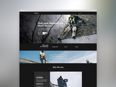 Recruiting Website web design website web ui ux solarpower non-profit humanitarian givepower