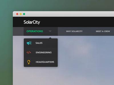 SC Navigation modern sub menu menu homepage ui ux web design buttons dropdown navigation drop down