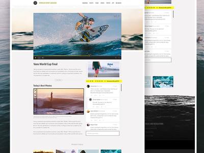 World Surf League Redesign gallery live tweet web video player user interface ux ui web design surf redesign