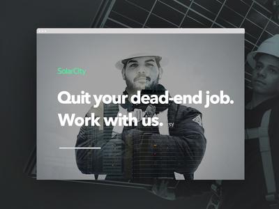 SolarCity Recruiting web hero image big image homepage webpage website web design ui ux recruiting