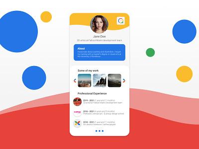 006   Daily UI   Profil dailyui06 vector icon branding app dailyui web ui design