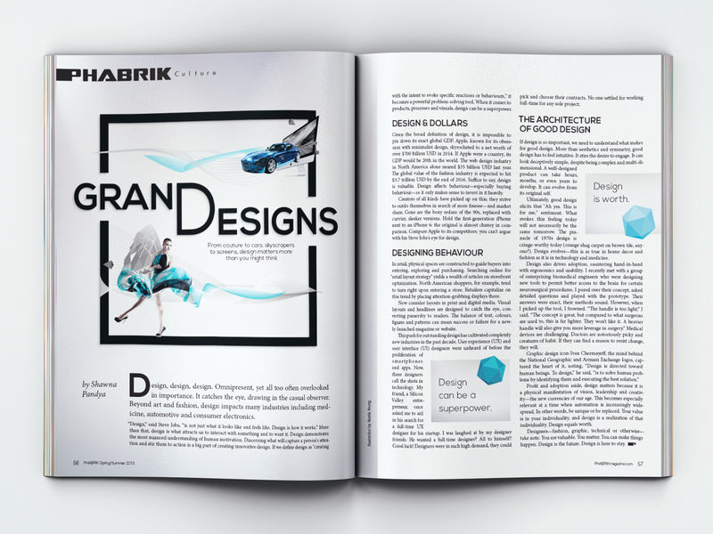 Magazine Feature By Noella Yeung On Dribbble