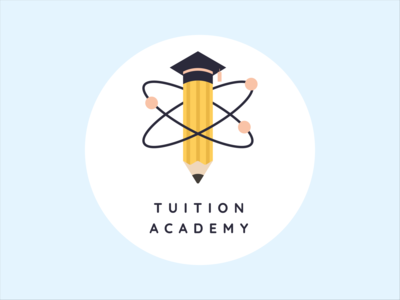 Tuition Academy Logo graphic design digital art flat design illustration graphic illustration adobe illustrator logo designs logodesign graphicdesign pencil logo education logo tuition logo logo chemistry tuition chemistry