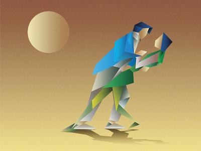 Couple Scene Illustration / Low Poly Illustration